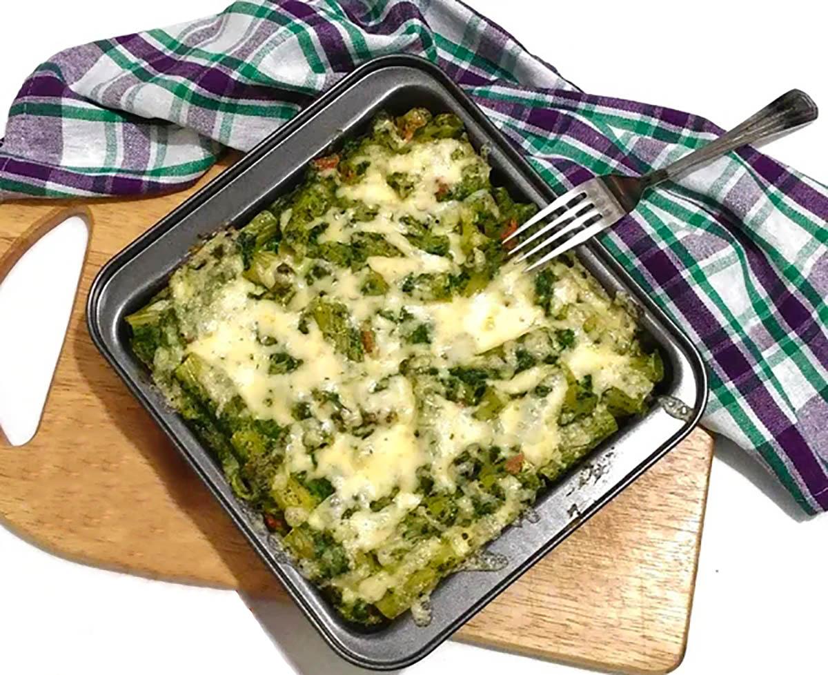 Patate me spinaq në furrë