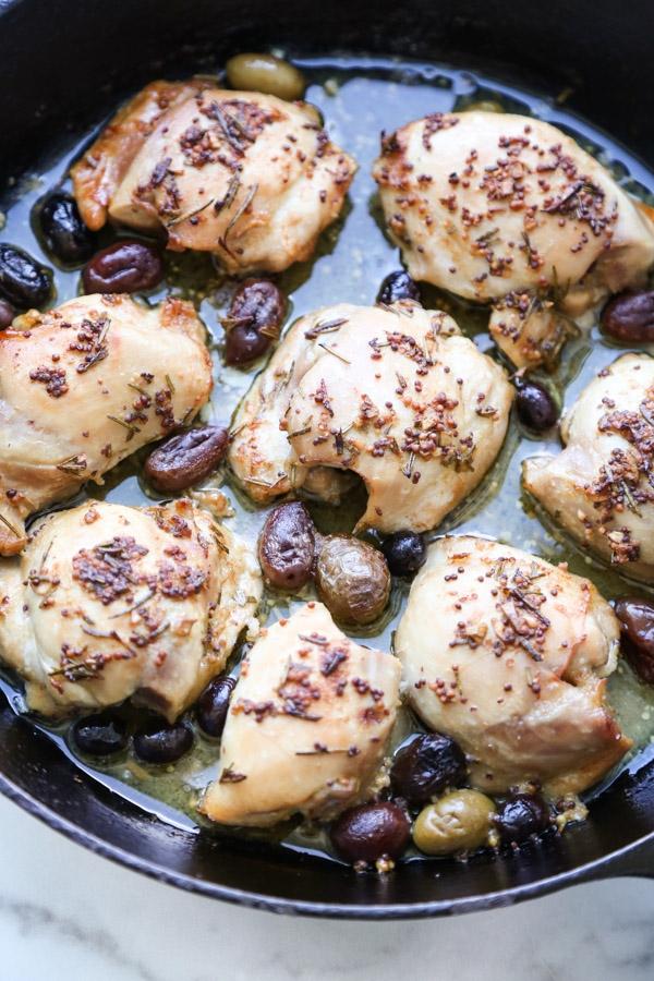 Fileto pule të pjekura me ullinj