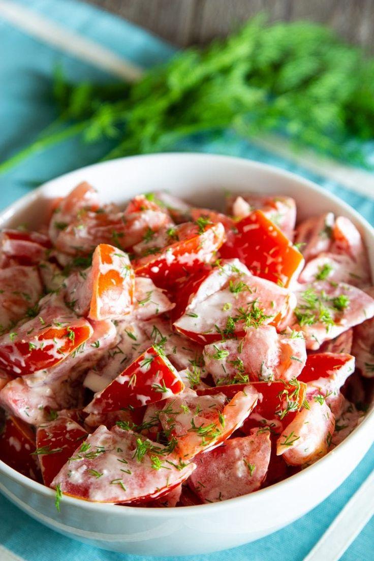 Sallatë me domate dhe majonezë